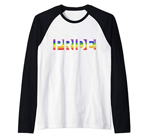 (Vintage LGBTQ Rainbow Flag Gay Pride Raglan Baseball Tee)
