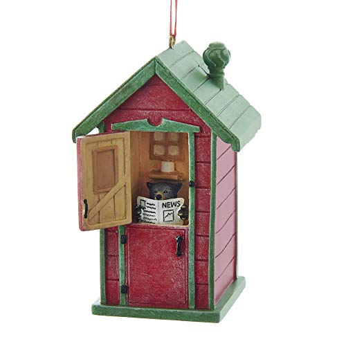 Kurt Adler Outhouse With Bear Ornament 3.75 inch ()