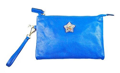 Borsa donna Collezione Argento Antico by Laino Industry fashion accessories - Pochette in pelle con stella