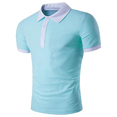 Men's Tee,Neartime Slim Sports Turn-down Collar Polo Shirt T-shirts Tops