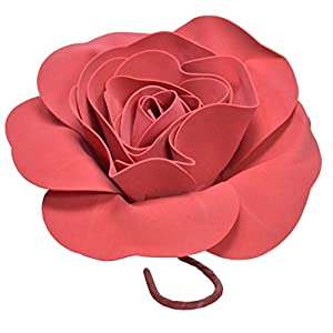 IG Artificial Rose Foam EVA Flower 8 Inch Round with Stem (3 Pieces) Red 61
