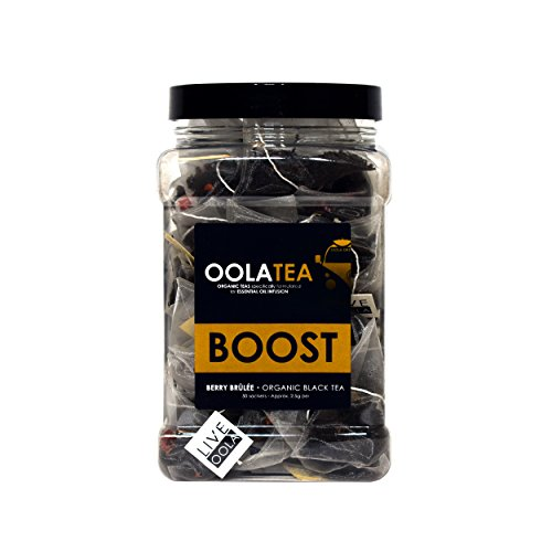 Oola Tea - BOOST (Berry Brûlée) 50 Count | Certified Organic Black Tea | Boosts Concentration | Rich in Flavonoids ()