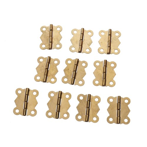 10Pcs Mini Iron Butterfly Hinges Cabinet Drawer Door Butt Hinge ()