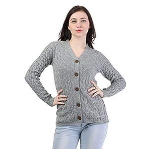 Kalt Women's Acrylic V-Neck Sweater