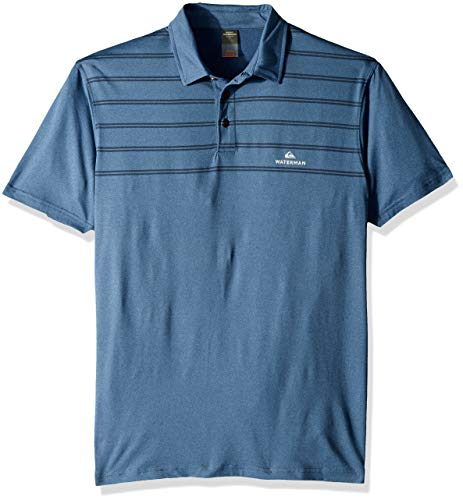 - Quiksilver Men's River Explorer Polo TEE, Orion Blue Heather, M
