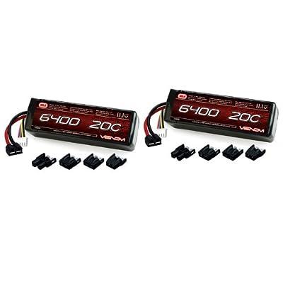 Venom 20C 3S 6400mAh 11.1V LiPo Battery with Universal Plug (EC3/Deans/Traxxas/Tamiya) x2 Packs