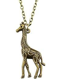 Best Wing Jewelry Giraffe Pendant Necklace (70 cm)