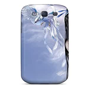 Phone Case Galaxy S3 Hybrid Tpu Case Cover Silicon Bumper Girl Pigeons Peace