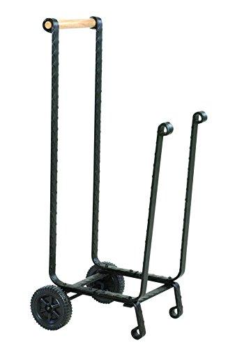 UniFlame Large Black Log Rack with Wheels by Uniflame