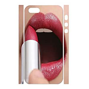 Artistical Hipster Red Lip Print Pattern Phone Accessories for Iphone 5 5S Case
