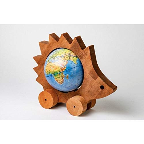 Educational wooden toy world globe tutorial game accessories wooden globe organic toy animals paintable wooden toy elephant