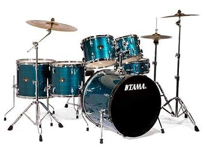 6337e6154a38 Amazon.com  Tama Imperialstar 6-Piece Complete Drum Set with Meinl ...
