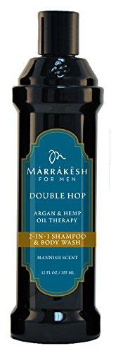 Marrakesh Hair Care for Men Double Hop 2-in1 Shampoo and Body (Hemp Gel Shampoo)