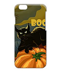 VUTTOO Iphone 6 Case, Black Cat On Pumpkin Boo Halloween PC Case Cover Protector for Apple iPhone 6 4.7 Inch
