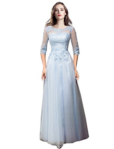 a0830b707 ... Mother of The Bride Dress Half Long Sleeves Evening Formal Gowns Light  Blue US14. ; 