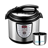 Gtime Electric Pressure Cooker 6 Qt 18-in-1 Programmable Multi-Cooker,Slow Cooker, Rice Cooker,Steam and Yogurt with Stainless Steel Inner Pot,Includes Steaming Rack,Scouring Pad