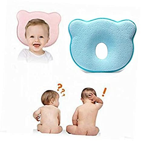 Soft Infant Head Orthopedic Shaping Pillow Memory Foam Sleeping Cushion for Prevent Plagiocephaly or Flat Head Syndrome zinnor Baby Pillow Pink