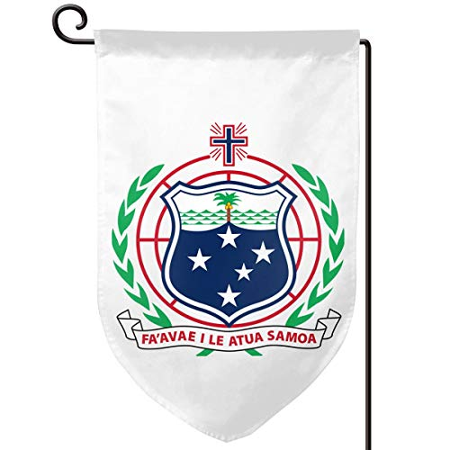 X-JUSEN Coat of Arms of American Samoa National Emblem Personalized Garden Flag, Outdoor Yard Decor, Vertical Double Sided Artistically Designed Flags - 12.5 X 18 Inch, Decorative Banners ()