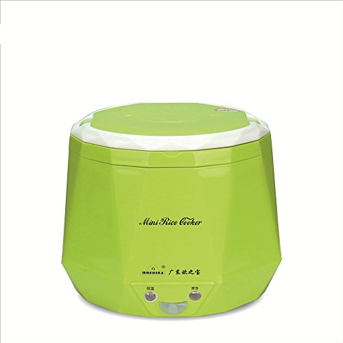 Mini Multi-function Rice Cooker 12v 1.3L For Rice, Soup, Noodles, Vegetable, car use (1.3L, Green)