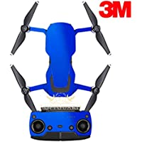 SopiGuard 3M Gloss Fire Blue Precision Edge-to-Edge Coverage Vinyl Sticker Skin Controller 3 x Battery Wraps for DJI Mavic Air