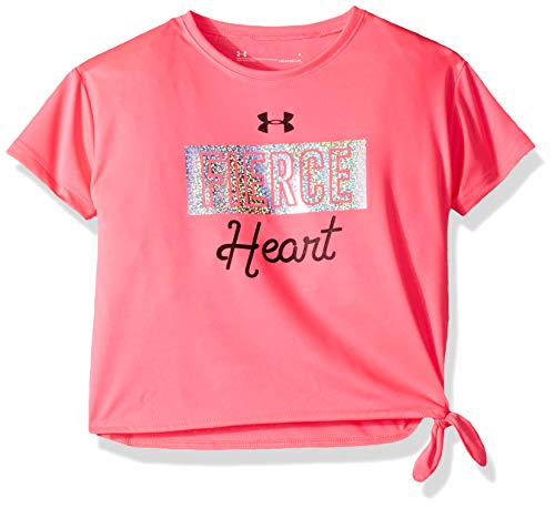 Under Armour Girls' Little Varsity Short Sleeve T-Shirt, Mojo Pink-s19, 5