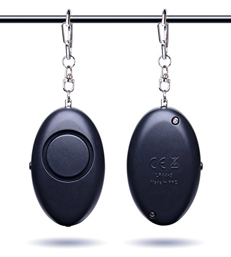 Emergency Personal Alarm,TOMKAS Self Defense Keychain for Elderly/Women/Kids/Runners/Girls 120dB Outdoor Safety Devices Adorable Bag Decoration Black - Personal Alert Safety Devices