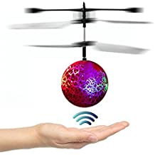 Goolsky Mini Flying infrared Induction Helicopter Flash Disco Colorful Shining LED Lighting Ball Toys Gesture-Sensing for Kids Teenagers