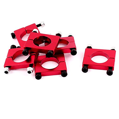 uxcell 6pcs 16mm Aluminum Clamp for Carbon Fiber Tube Quad Copter ()