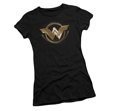 Wonder+Woman+Shirts Products : Lasso Logo -- Wonder Woman Movie Juniors T-Shirt
