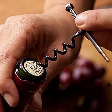 xy Precio de Botella de Vino Tinto Multifuncional Mini Saccorcho con Llavero Llavero Llavero Llavero Llavero Llavero (Color : Black)