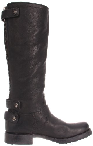 Frye Womens Veronica Back-zip Boot Svart Stein Antikk-77551