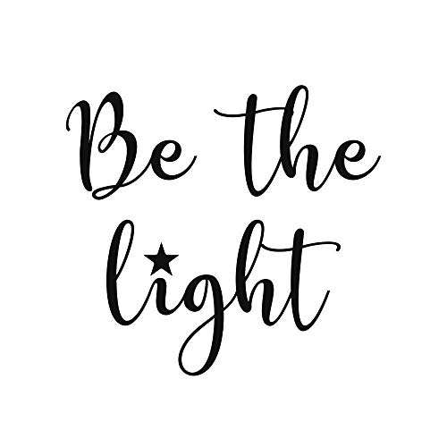 Be the Light Bible Quote Sticker 3 inches Black