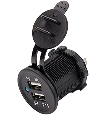 Amazon.com: ESUPPORT 12v Motorcycle Waterproof Dual USB Port ...