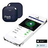 iTrack Motion Key Finder Locator, Bluetooth Key Finders Smart Tracker Device for Phone, Kids, Keychain, Wallet, Bags, Purse, Luggage (2018 New Designed) - Dark Blue