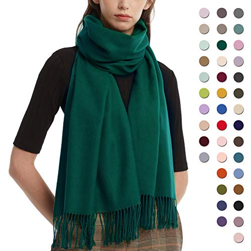 Womens Winter Scarf Cashmere Feel Pashmina Shawl Wraps Soft Warm Blanket Scarves for Women (One size, Olive)