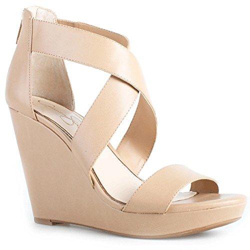 Jessica Simpson Women's Jinxxi Wedge Sandal, Ambra, 8.5 M US
