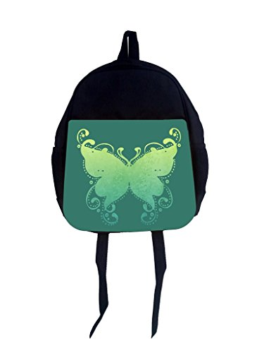 Rosie Parker TM Children's Small 14'x12' Backpack - Grunge Butterfly on Vintage Jade