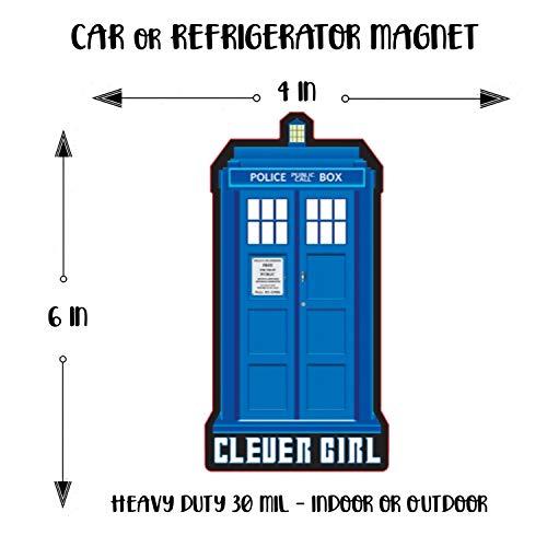Eventyr Magnet Dr. Who Car Magnet Clever Girl Magnet Car or Magnet Refrigerator 4x6