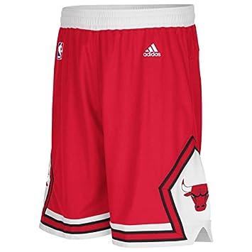 Amazon.com: Chicago Bulls Shorts Adidas NBA Swingman Red Med: Clothing