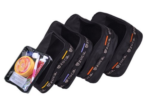 Zuca Pro Packing Pouch Set - 5 Large Color-Coded Utility Pouches and 1 Small Utility Pouch. for Zuca Sport or Pro Rolling Cases. (Pro Packing Pouch Set)