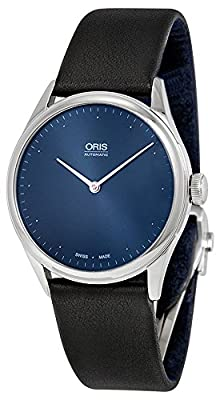 Limited Edition Oris Thelonious Monk Automatic Steel Mens Strap Watch Blue Dial 732-7712-4085-LS