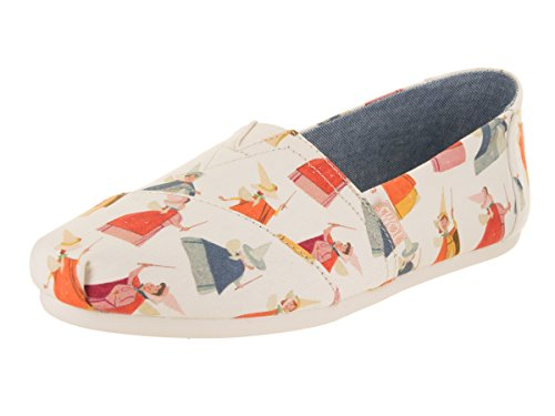 TOMS Natural Fairy Godmother Printed Canvas 10012735 Classic Slip-Ons Womens Size 6
