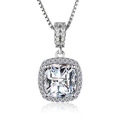 Jewelrypalace Zirconia Sterling Engagement Necklace product image