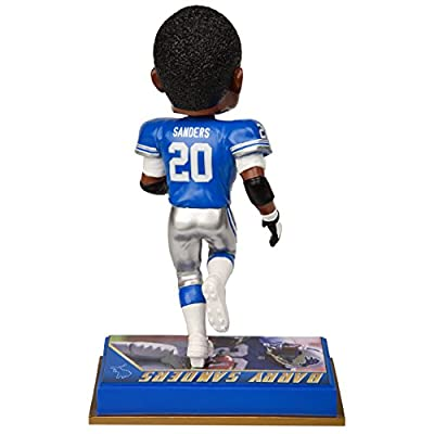 "NFL Detroit Lions Barry Sanders #20 Retired Player Bobble, 8"", Team Color"