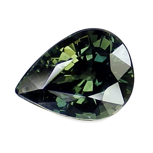 Green Sapphire Natural (1.07 Ct. Natural Pear Green Sapphire Thailand Loose Gemstone)