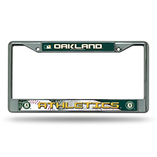 MLB Oakland Athletics Chrome License Plate -