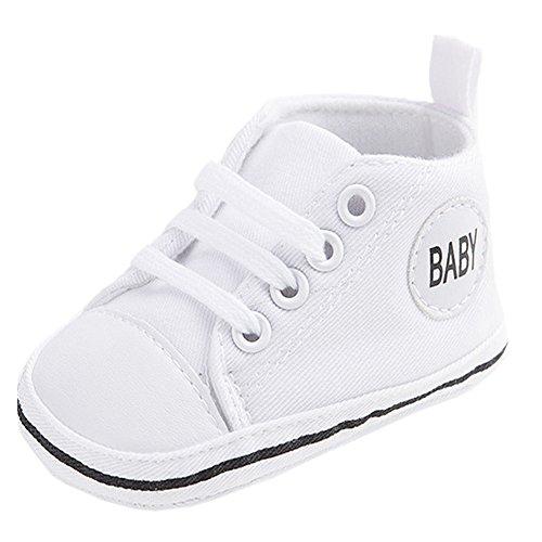 etrack-online Infant Toddler Boys Girls Lienzo zapatillas antideslizantes zapatos de exterior amarillo amarillo Talla:12-18 mes blanco