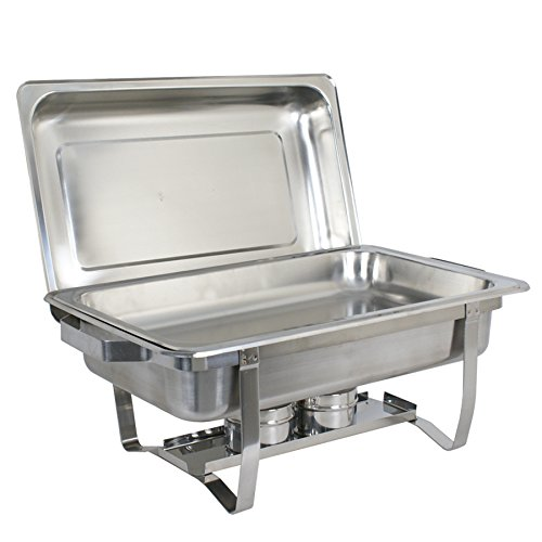 Super Deal Stainless Steel 2 Pack 8 Qt Chafer Dish w/Legs Complete, 2 Pack (#1) by SUPER DEAL (Image #4)