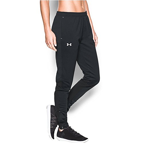 Under Armour Women's Challenger Knit Pants, Black/White, Med
