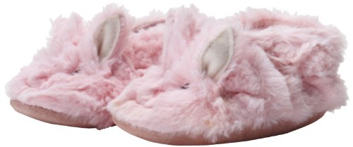 (Robeez Fuzzy Bunny Slipper Crib Shoe (Infant), Pink, 12-18 Months M US Infant)